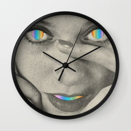 Internal rainbow Wall Clock