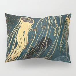 Metallic Jellyfish Pillow Sham
