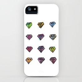 Colorful Diamonds iPhone Case