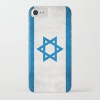 israel iPhone & iPod Cases featuring Israel Flag  by Jason Michael