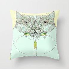 UzumakiKat I v2 Throw Pillow