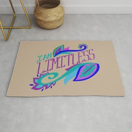 I am Limitless - motivational quote Rug