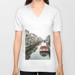Milano Navigli - Italy Unisex V-Neck