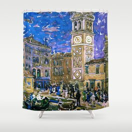 "Maurice Prendergast ""Santa Maria Formosa Venice"" Shower Curtain"