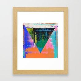 Color Chrome - triangle graphic Framed Art Print