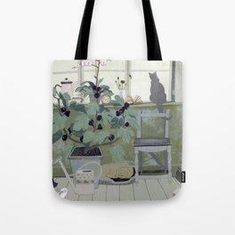 Indoor Garden With Fig Tree Tote Bag