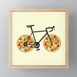 Pizza Bike Framed Mini Art Print
