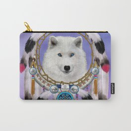 Native American Indian Wolf Spirit Carry-All Pouch
