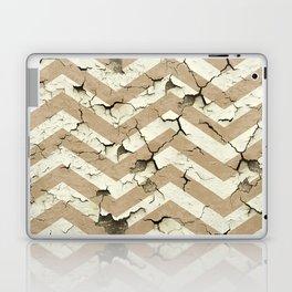 Peeling Chevrons Taupe Laptop & iPad Skin