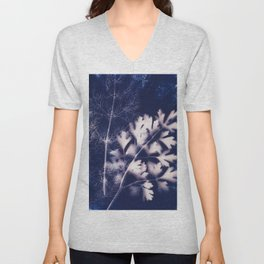 Silhouette of Parsley and Fennel Unisex V-Neck