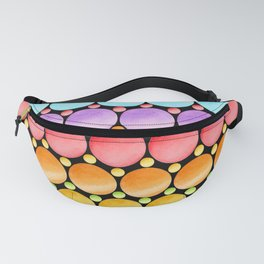 Rainbow Dotty Stripes Fanny Pack