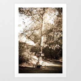 READING TREE Art Print