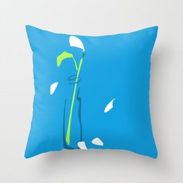 He Loves Me — Blue Throw Pillow
