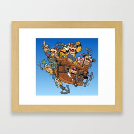 Father and His Children Framed Art Print