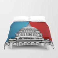 politics Duvet Covers featuring American Politics by politics