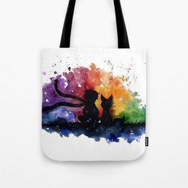 El Principito The Little Prince Fox Book Watercolor Art Tote Bag
