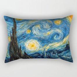 A Starry Night at Hogwarts Rectangular Pillow