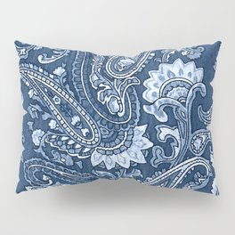 Blue indigo paisley Pillow Sham