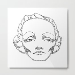 Marlene Dietrich in Berlin Metal Print