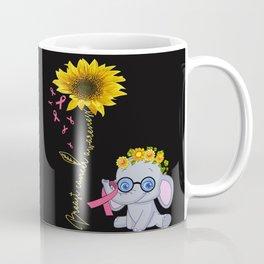 breast cancer hippie elephant sunflower Coffee Mug