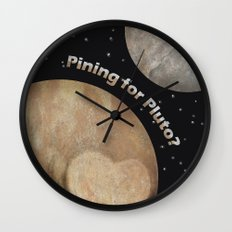 Pining For Pluto Wall Clock