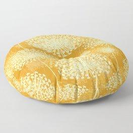 Yellow Dandelions Floor Pillow