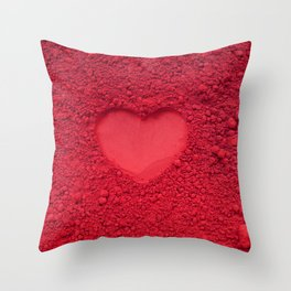 Love symbol with red powder color Throw Pillow