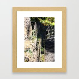 Side View of the Wall Framed Art Print