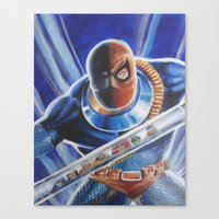 deathstroke Canvas Prints featuring Terror of the Titans by KuddlyFatality