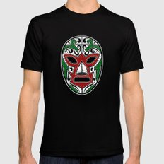 Mexican Wrestling Mask - Color Edition Mens Fitted Tee Black X-LARGE