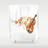 violin Shower Curtains featuring violin by arnedayan