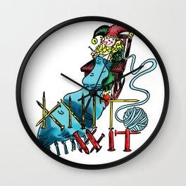 Knit Wit Wall Clock