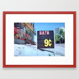Bath 9 Cents Framed Art Print