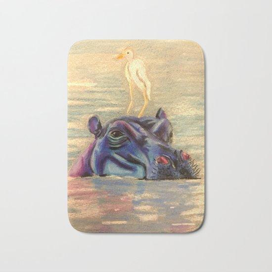 Hippo Ride Bath Mat