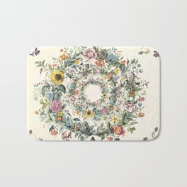 Circle of Life Cream Bath Mat