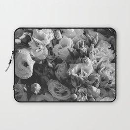 Black and White Lisianthus Laptop Sleeve