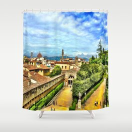 Florence from Boboli Gardens at Pitti Palace Shower Curtain