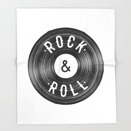 Rock & Roll Throw Blanket