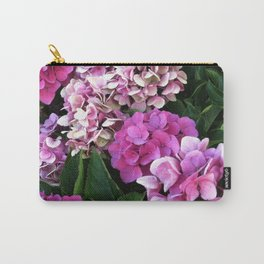 Pink Hydrangas Carry-All Pouch