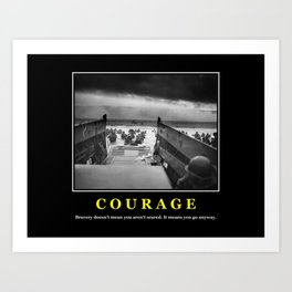 Courage -- D Day Print Art Print