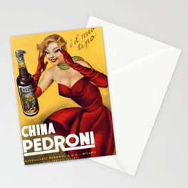 Vintage China Pedroni Advertising Wall Art Stationery Cards