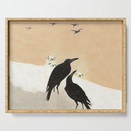 Crows from Koson Serving Tray