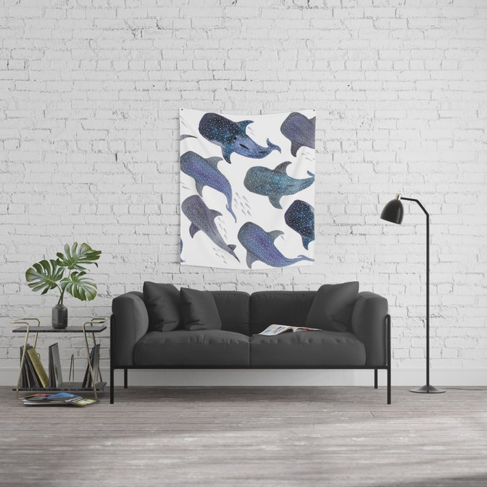 Whale Shark Pattern Party Wall Tapestry