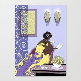 CLARICE: Art Deco Lady - Elegant Spring Canvas Print