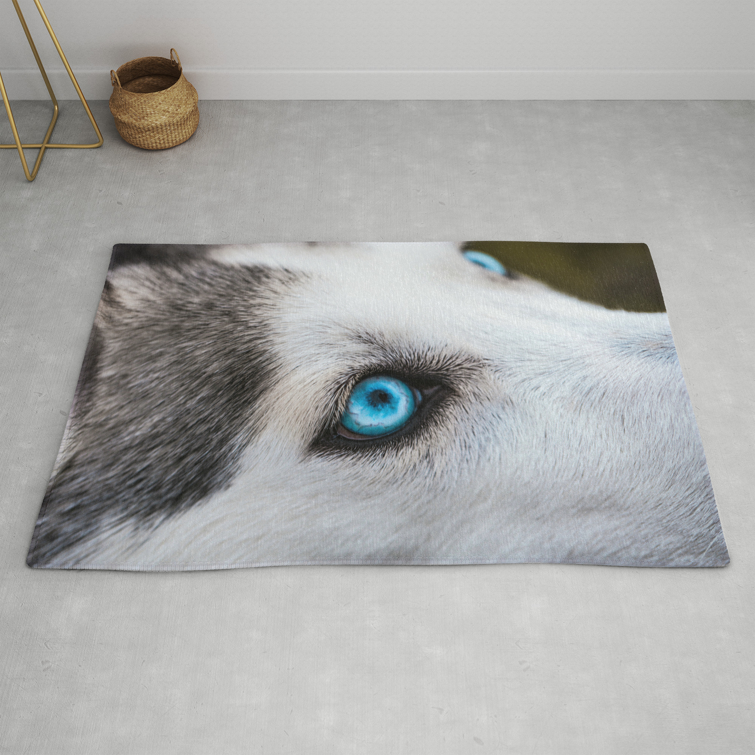 Siberian Husky Eyes Color Rug By Nocolordesigns Society6