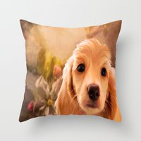 cookie Throw Pillows featuring Cookie.. by YvetteCheri-DigiArt
