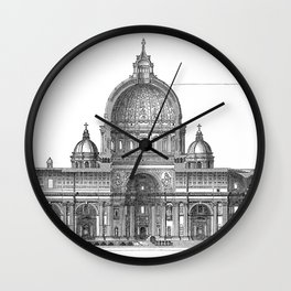 St. Peter Basilica - Rome, Italy Wall Clock