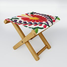 Red Mexican Flower Folding Stool