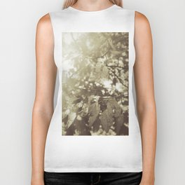 Abide with Me (Gold) Biker Tank
