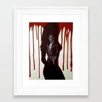 skyfall Framed Art Prints featuring Skyfall by Caroline Ward
